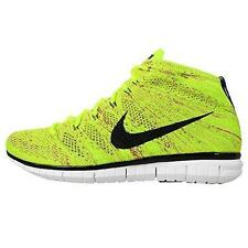 NEW MEN'S NIKE FREE FLYKNIT CHUKKA YELLOW BLACK VOLT 639700-700 Sz 10 TRAINING