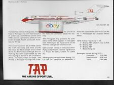 TAP TRANSPORTES AEREOS PORTUGUESES 727-82 D.C.NICHOLS TECH DRAWING & HISTORY