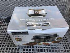 Slow Cooker New!!! Hamilton Beach 33970 Sous Vide /& 6QT