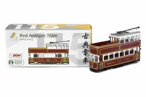 Tiny City Hong Kong 115 Die-cast Model Car - Red Antique Tram #128