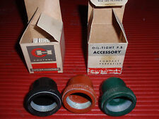 VINTAGE CUTLER HAMMER ELECTRICAL COMPONENTS, MISC RUBBER BOOTS N.O.S.