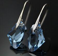 """Thompson Luxury """"Nadja"""" Water Drop Ohrringe ocean blau, Silber plated - UVP 29 €"""