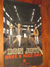 "BON JOVI - HAND SIGNED ""HAVE A NICE DAY"" TOUR POSTER - RARE"