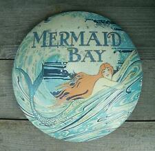 "Rustic Old Vtg Look 12"" Mermaid Metal Wall Sign-Nautical Beach House/Home Decor"