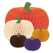 Halloween Decorations Party Supplies Designer Tissue Pumpkins 5 pack Table