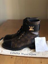 Authentic Louis Vuitton Wonderland Flat Ranger Monogram Leather Boots EU 39 US 9