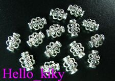 200 Pcs Tibetan silver floral pot spacers beads A287