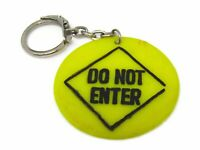 Vintage Keychain: Do Not Enter Sign