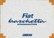 FIAT BARCHETTA Betriebsanleitung 1995 Bedienungsanleitung Handbuch Bordbuch BA