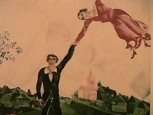"""1917 Marc Chagall """"Promenade"""" Post Card 6.3 x 4.5 Small Modern Art Print"""