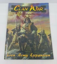 Clan War Legend of the five Rings Lion Army Expansion RPG Role Playing Game Book