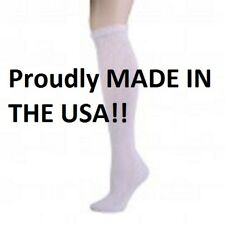 WHITE DIABETIC SOCKS OVER THE CALF PHYSICIANS CHOICE SIZE 13-15