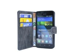 book-style custodia per cellulare accessori borsa antracite HUAWEI ASCEND Y635@