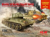 ICM DS3506 - 1/35 scale Battle of Berlin April 1945 (T-34-85, King Tiger) WW II