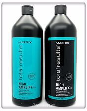 Matrix Total Results High Amplify Protein Shampoo & Conditioner Liter Duo New