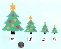 Christmas Tree Die Cuts, Printed Embellishments, Punchies, Party Time