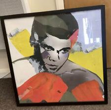 """Framed Art Print """"Ali"""" By Sunil Pawer In Black Stained Ash Frame 62cm X 62cm"""
