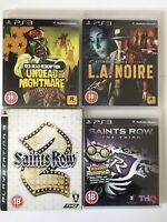 PS3 Game Bundle -Red Dead Redemption+L.A.Noire+Saints Row 2+Saints Row 3 (791)