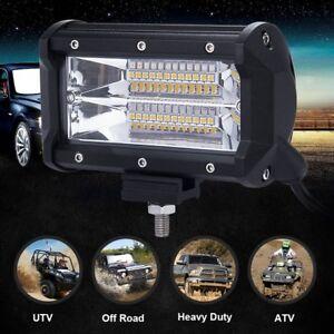 1x 5Inch 72W LED Work Light Bar Marine Boat Offroad Truck Flood Driving Fog Lamp