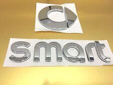 ABS Smart Letter REAR BADGE Chrome SMART Badge Emblem Sticker Car Trunk Sticker