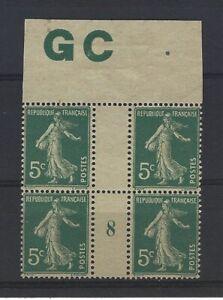 France Yvert n° 137 Bloc de 4 millésime 8 neuf sans gomme GC