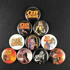 "Ozzy Osbourne 1"" Button Pin Set Heavy Metal Rock Black Sabbath Randy Rhoads"