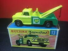 RARE VINTAGE LESNEY MATCHBOX SUPERFAST #13 DODGE WRECK TRUCK MINT W/ORIGINAL BOX
