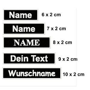 Namensschild Aufnäher Patch gestickt mit Wunschtext & Wunschgröße, Biker, Kutte