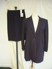 Ladies Suit M&S, jacket UK 16 & skirt UK 12, purple pure wool, RRP £95, new 1001