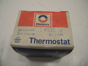 NOS Delco 195 Degree Thermostat 131-18 Gr. 1.246 3046544 (AMC/Ford/Bu/Pont/Chev)