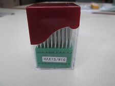 100 Domestic Sewing Machine Needles HAX1S Size 16/100 LEATHER POINT