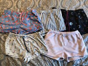 Womens Size Large Sleepwear Pajama Shorts Lot Secret Treasures