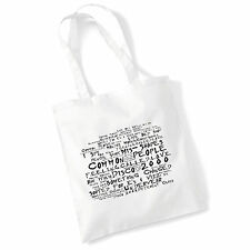 Estudio de arte álbum de impresión Bolsón Bolso pulpa letras cartel de música Gimnasio Playa Shopper Regalo