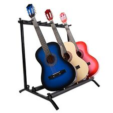 7 Guitar Rack Holder Storage Organizer Folding Stand Electric Acoustic Bass New