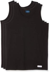 Set 3 Hombre Camiseta Larga 100% Algodón Navigare 511 Negro Blanco