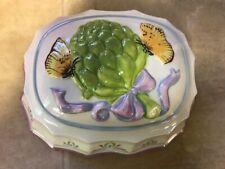 Franklin Mint Le Cordon Bleu Hanging Mold Artichoke butterflies vintage jello