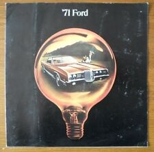FORD orig 1971 large format USA brochure - LTD Galaxie Custom 500 Thunderbird