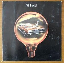 FORD orig 1971 large format USA brochure - LTD Galaxie Custom 500 Thunderbird