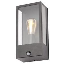 Edgworth IP44 1 Light Wall Light PIR Sensor Modern Outdoor Light Black Litecraft