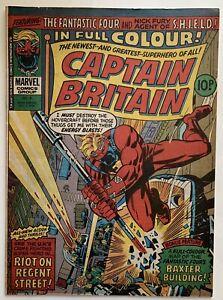 (1976) Captain Britain #8 1st appearance Elizabeth Braddock (Psylocke)!