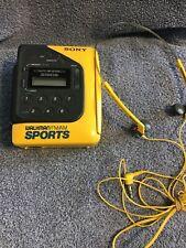 Vintage Sony Walkman Sport Radio With Headphones Tape not working Parts Repair
