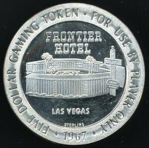 1967 Frontier Hotel Las Vegas $5 Silver Strike Franklin Mint 1.3 Oz. Sterling