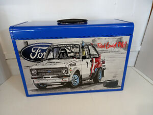 Ford escort mk.2 themed and created specialist 4 drawer metal toolbox BLUE