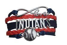 Cleveland Indians Bracelet, Indians Jewelry, Indians Gift, Baseball Bracelet