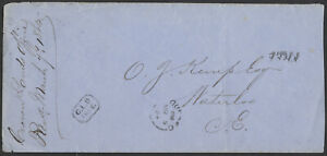 1864 Crown Lands Cover, FREE Rated Quebec to Waterloo CE, CLD FREE Lozenge