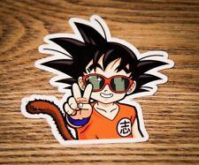 """Dragon Ball Z  Goku Glasses / Kid Goku - 4"""" Vinyl Sticker/ window decal DBZ"""