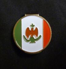 "Mexico Flag 1"" Golf Ball Marker & LIGHT GREEN Hat Clip"