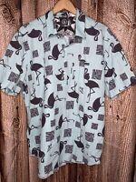 Volcom Classic Fit Men's XL Pullover Pocket Polo Shirt Flamingo Blue