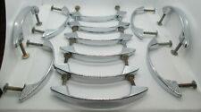 Vintage Lot of 12 Chrome Concave Drawer Pulls Handle Cabinet Cupboard 4 1/4 inch