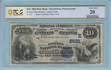 Norristown, Pennsylvania. $10 1882 DB Fr. 545. The People's NB CH #2581. PCGS 20